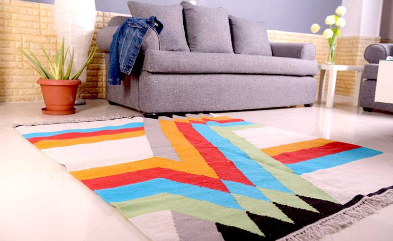 handmade kilim rug 100% natural wool