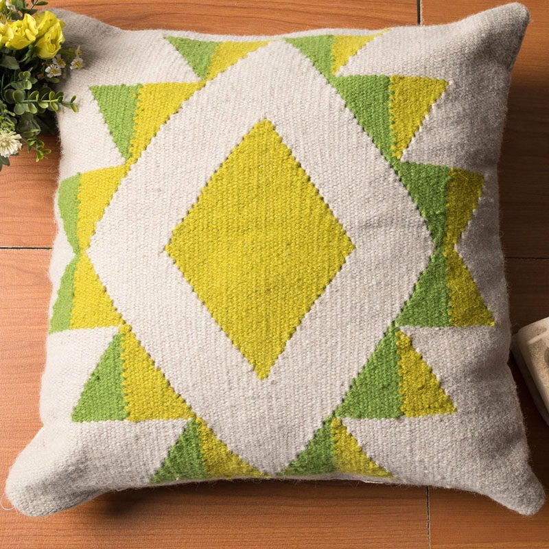 handmade cushion 100% natural wool